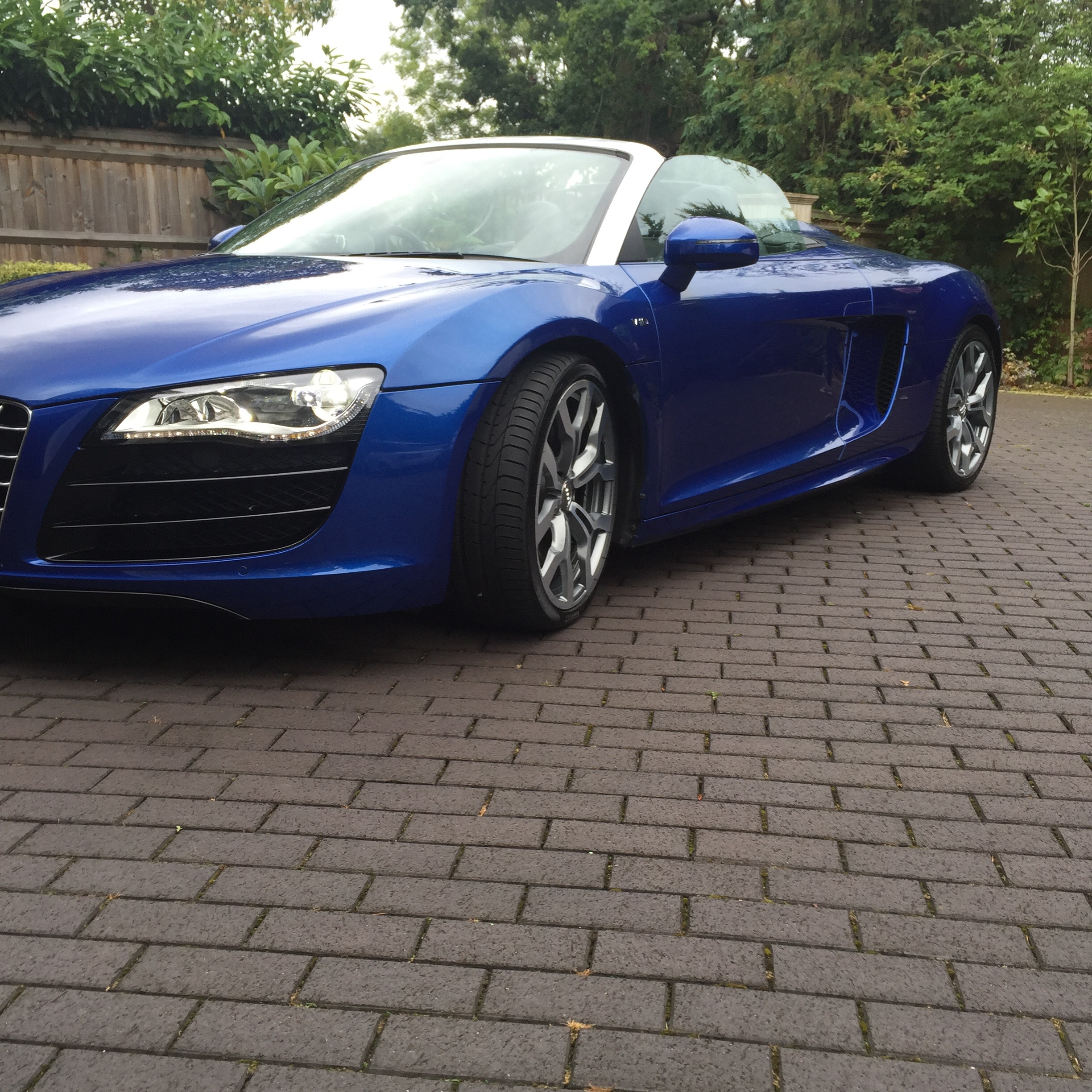 Audi R8 coated in Aqueous Guard® Automotive Products